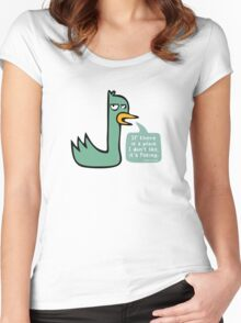 The Upset Duck Women's Fitted Scoop T-Shirt