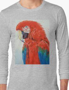 Crimson Macaw Long Sleeve T-Shirt