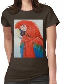 Crimson Macaw Womens Fitted T-Shirt