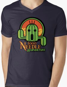 1000 NEEDLE ACUPUNCTURE Mens V-Neck T-Shirt