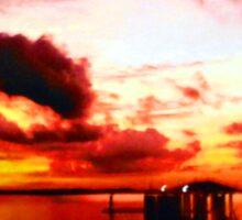 Florida Sunset with Dock Sticker