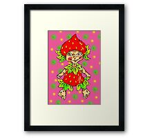 strawberry fairy  Framed Print