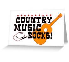 Country Music Rocks Greeting Card
