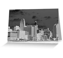 Cincinnati Skyline (bw) Greeting Card