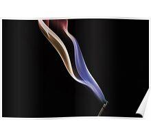 Smokey prism ribbon Poster