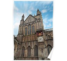 Clouds over Wells Cathedral Poster