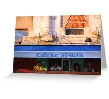 The Essence of Croatia -  Bar in Split Greeting Card