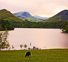 Sun-setting over Derwent Waters by Elaine123