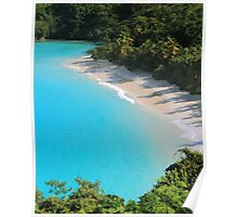 Beach and Turquoise Water Poster