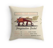 Imagination Rocket Throw Pillow