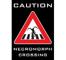 Caution - Necromorph Crossing Photographic Print