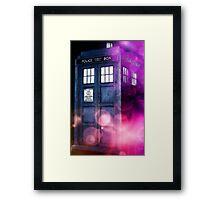 Public Police Box - Dr Who Framed Print