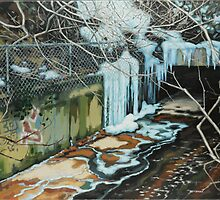 Ice Flow by Eric Westbrook by Terry  Berman