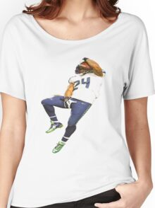 Marshawn Lynch Deez Nuts Women's Relaxed Fit T-Shirt
