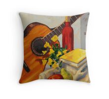 Still Life with Red Bottle by Eric Westbrook Throw Pillow