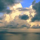 Tropical Shower over the Caribbean by Roupen  Baker