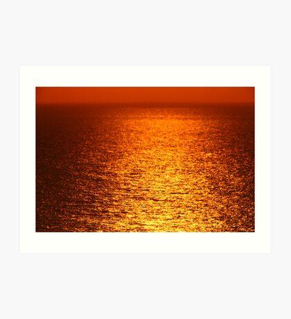 Lake Michigan Sunrise on the Horizon Art Print