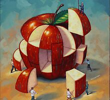 Apple Puzzle by Eric Westbrook by Terry  Berman