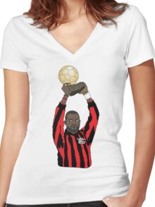 TRS George Weah Women's Fitted V-Neck T-Shirt
