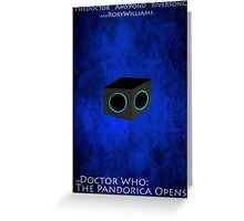 Doctor Who: The Pandorica Opens Greeting Card