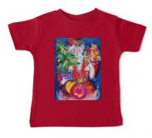 SANTA WITH CHRISTMAS TREE AND GIFTS Baby Tee
