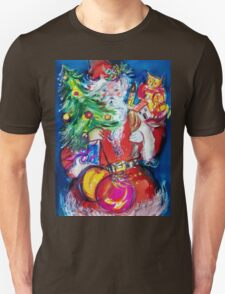 SANTA WITH CHRISTMAS TREE AND GIFTS T-Shirt