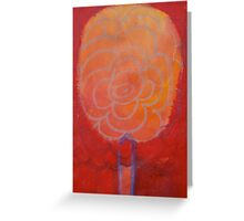 Orange Flower Greeting Card