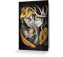 King's Peach Greeting Card