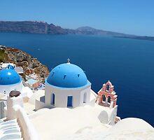 Oia Greece  by Kim Myleisha Mewing