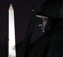 Monuments at Night by searchlight