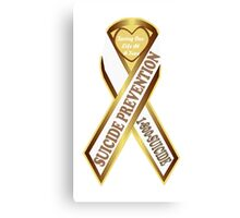 Help Prevent Another Suicide Gold Ribbon Canvas Print