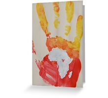 Yellow and Red Handprint Greeting Card