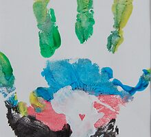 Multicolored Handprint by The Street Child Project