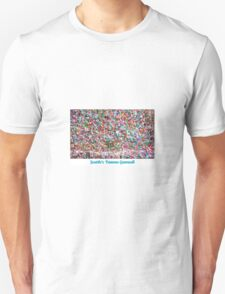Gum Wall of Seattle # 3 Unisex T-Shirt