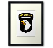 101st Airborne Insignia Framed Print