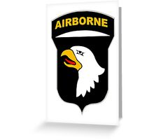 101st Airborne Insignia Greeting Card