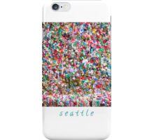 Gum Wall of Seattle # 4 iPhone Case/Skin
