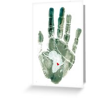 Teal Handprint Greeting Card
