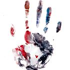 Red and Purple Handprint by The Street Child Project