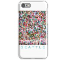 Gum Wall of Seattle # 5 iPhone Case/Skin