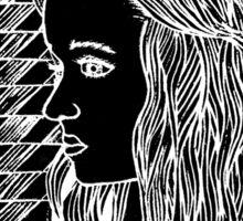 Lust of wonder, originally a Lino Print Sticker