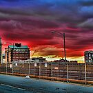 The sky is burning over Boston by CJ Fuchs