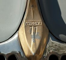 Willys 77 Grille Emblem by Jill Reger