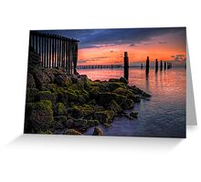 Moss on the rocks, colour in the sky Greeting Card