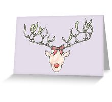 Mistletoe Deer Greeting Card