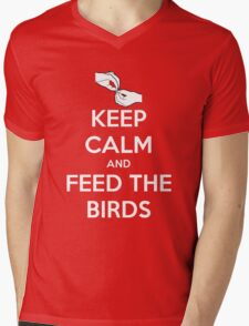 Keep Calm and Feed the Birds Mens V-Neck T-Shirt