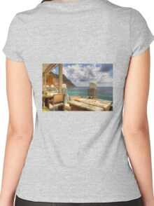 Dining in Paradise Women's Fitted Scoop T-Shirt