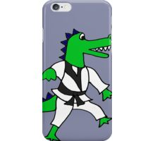 Funny Cool Karate Alligator iPhone Case/Skin