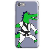Funny Cool Karate Alligator iPhone Case/Skin