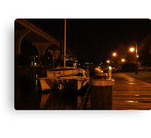 Docked for the Night Canvas Print